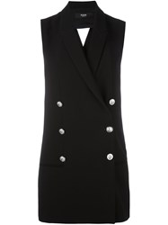 Versus Double Breasted Waistcoat Black