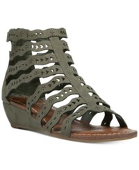 Carlos By Carlos Santana Kitt Cut Out Wedge Sandals Women's Shoes Olive