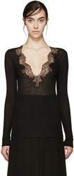 Givenchy Black Cashmere Lace Sweater
