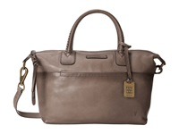 Frye Jenny Satchel Grey Soft Vintage Leather Satchel Handbags Taupe