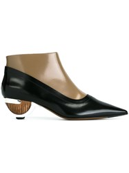 Marni Sculptural Heel Booties Black