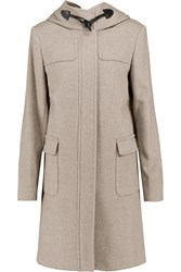 Joseph Hooded Wool And Cashmere Blend Coat Brown