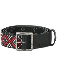 Htc Hollywood Trading Company Geometric Studded Belt Black