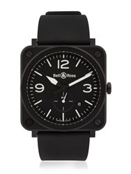Bell And Ross Brs Matte Ceramic Watch