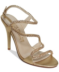 E Live From The Red Carpet Wallis Evening Sandals Women's Shoes Oro