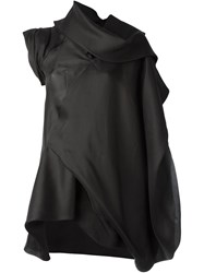Rick Owens Draped Oversized Top Black