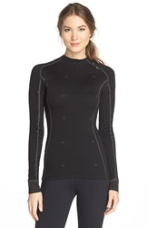 Helly Hansen 'Warm Crystal' Half Zip Wool Blend Base Layer Black