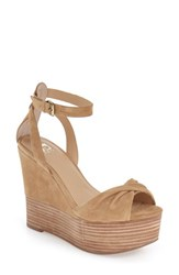 Joe's Jeans Women's Joe's 'Vassar' Wedge Sandal Latte Suede