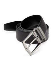 Giorgio Armani Textured Leather Belt Black