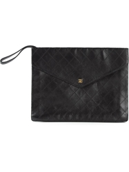 Chanel Vintage Quilted Clutch Black