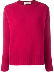 Zanone Ribbed Detailing Pullover Pink And Purple