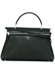 Serapian Front Zip Tote Black