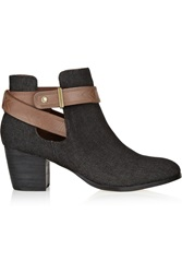 Twelfth St. By Cynthia Vincent Mailea Denim Ankle Boots