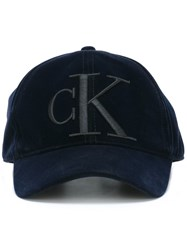 Calvin Klein Jeans Embroidered Baseball Cap Blue