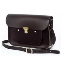 N'damus London Chocolate 11 Inches Mini Pocket Satchel Brown
