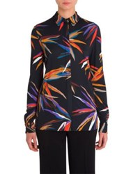 Emilio Pucci Jersey Button Up Blouse Black