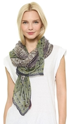 Theodora And Callum Amazon Scarf Citron Multi