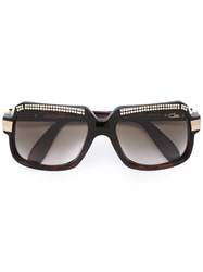 Cazal '607 Crystals Limited Edition' Sunglasses Brown