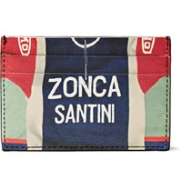 Paul Smith Zonca Santini Printed Leather Cardholder Blue