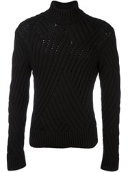 Neil Barrett High Neck Jumper Black
