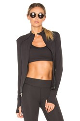 Beyond Yoga Fitted Mock Neck Jacket Black