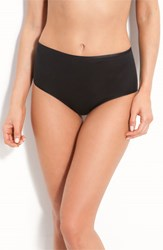 Women's Hanro Seamless Cotton Full Cut Briefs Black