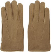 A.P.C. Brown Sude Luc Gloves