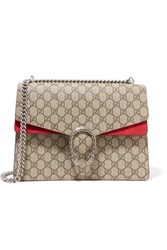 Gucci Dionysus Medium Coated Canvas And Suede Shoulder Bag Beige