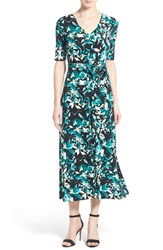 Women's Chaus Tropical Print Belted A Line Maxi Dress