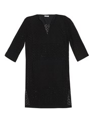 Tomas Maier Eyelet Cotton Tunic Dress