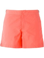 Orlebar Brown Buckle Detail Swimshorts Pink And Purple