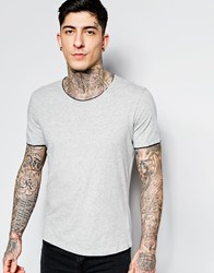 Sisley T Shirt With Raw Edges Grey