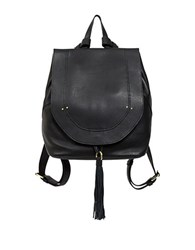 Sanctuary Leather Backpack Black