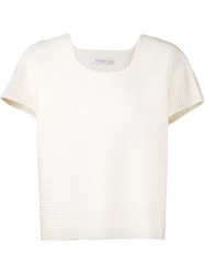 Viktor And Rolf Textured Boxy Top White