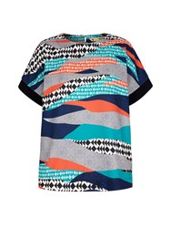 Yumi Graphic Printed Shell Top Multi Coloured