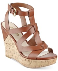 Guess Women's Harlea Wedge Sandals Women's Shoes Medium Brown