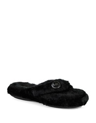 Michael Michael Kors Jet Ski Thong Slippers Black