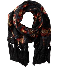 Pendleton Fringed Scarf Charcoal Scarves Gray