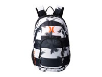 Hurley One And Only Printed Backpack White Black Hyper Orange Backpack Bags Blue