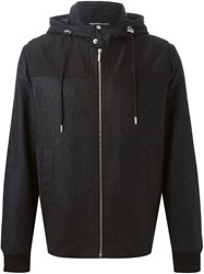 Christian Dior Dior Homme Zipped Hooded Jacket Grey