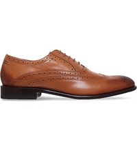Oliver Sweeney Ldn Fellbeck Perforated Leather Derby Shoes Tan