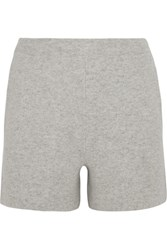 Allude Wool And Cashmere Blend Shorts Light Gray
