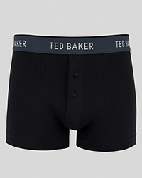 Ted Baker Watchnu Button Front Boxer Briefs Black