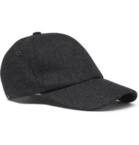 Paul Smith Melton Wool Baseball Cap Gray
