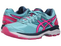 Asics Gt 2000 4 Turquoise Hot Pink Navy Women's Running Shoes Blue