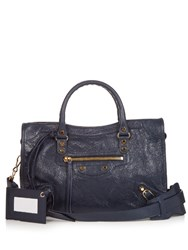 Balenciaga Classic City Small Leather Tote Navy