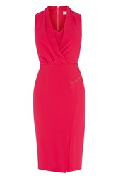 Coast Bettina Crepe Dress Hot Pink