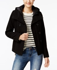 American Rag Hooded Peacoat Only At Macy's Black