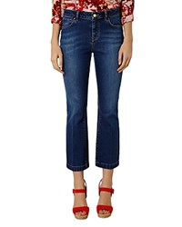 Karen Millen Flared Cropped Jeans Denim