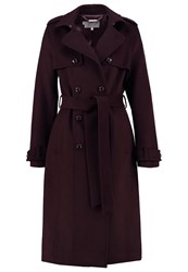 Hobbs Callaghan Classic Coat Burgundy Dark Red